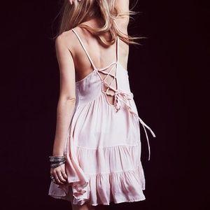 Free People Circle of Flowers Pink Slip Dress XS